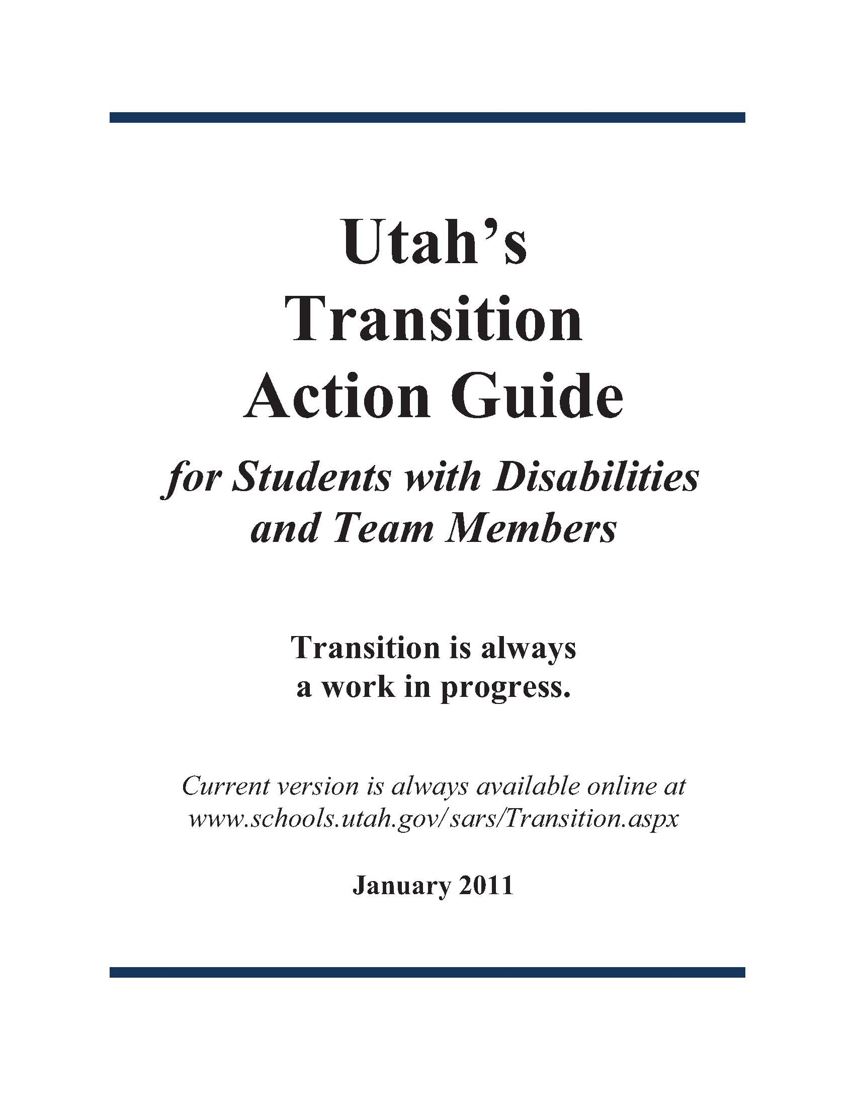 Utah's Transition Action Guide.